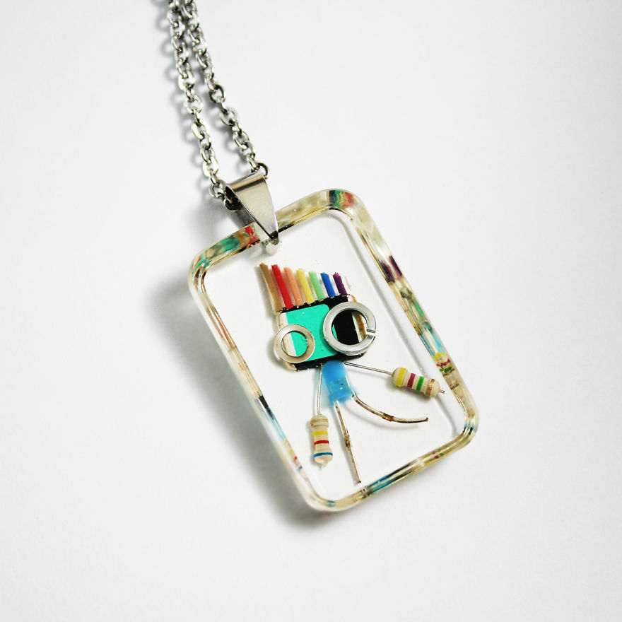 I Turned Electronic Components Into Adoptable Tiny Robots