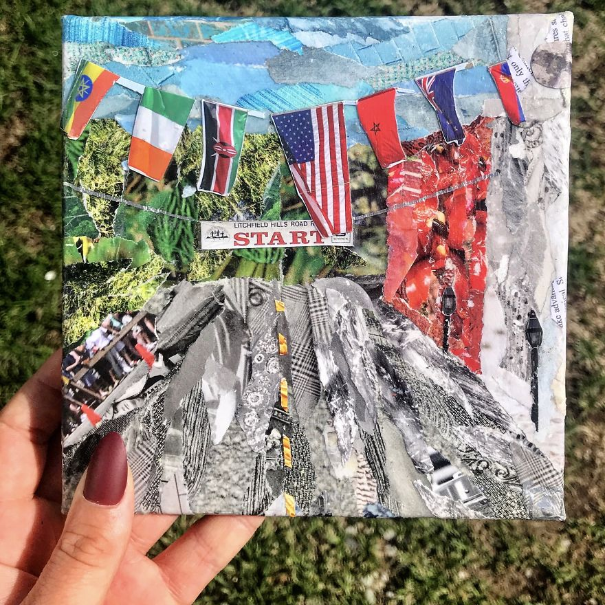 I Make Collages Out Of Recycled Magazines!