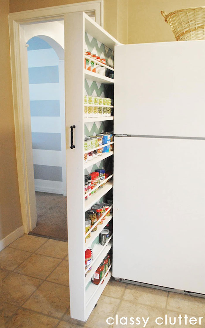 A Slide-Out Pantry In 6 Inches Of Space