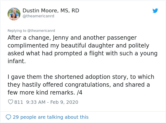 Couple Flies Home With Newly Adopted Baby And Passengers Decide To Throw Them An Impromptu Baby Shower