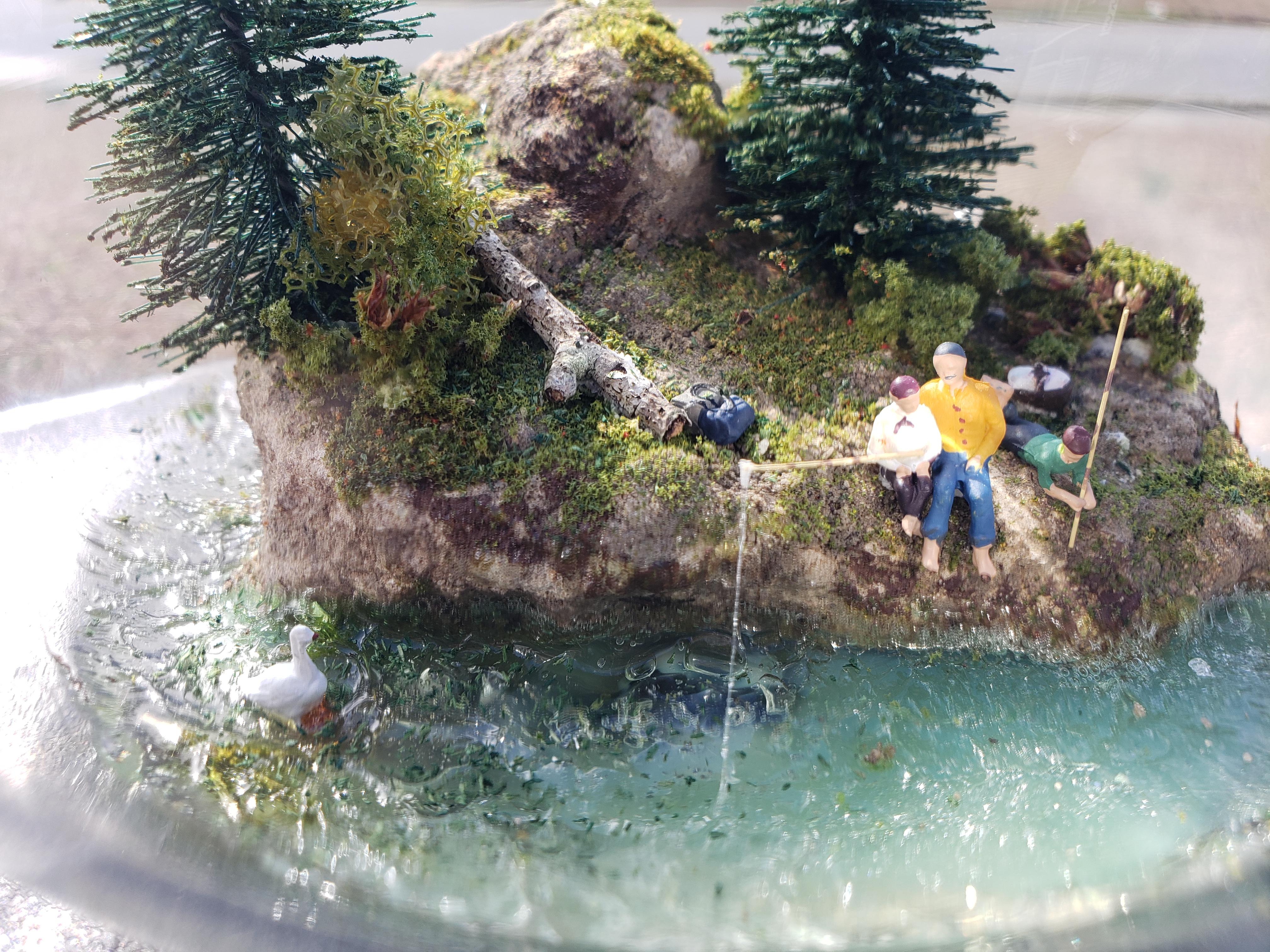 Miniature Scene In A Bowl