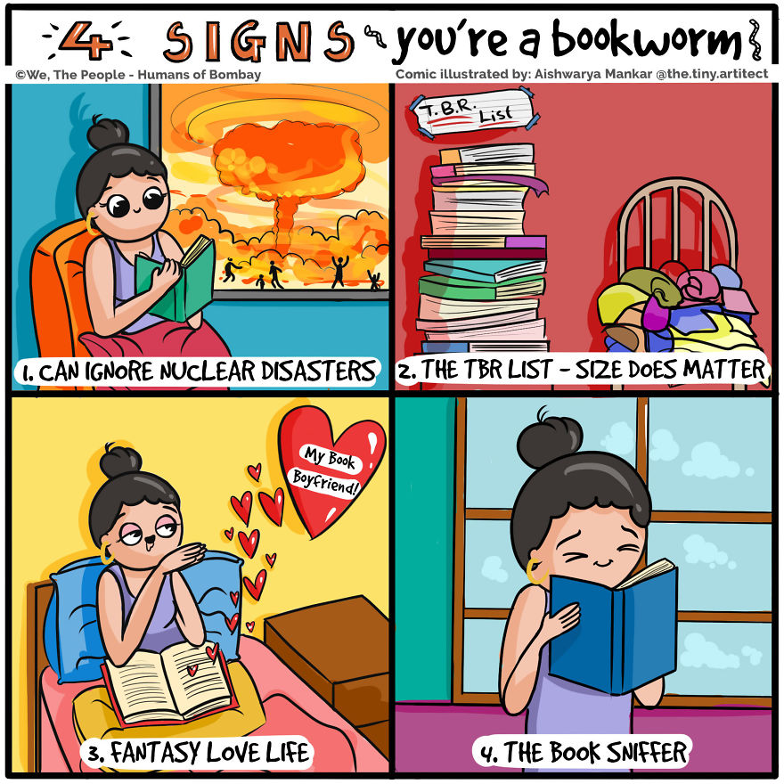 4 Signs You're A Bookworm