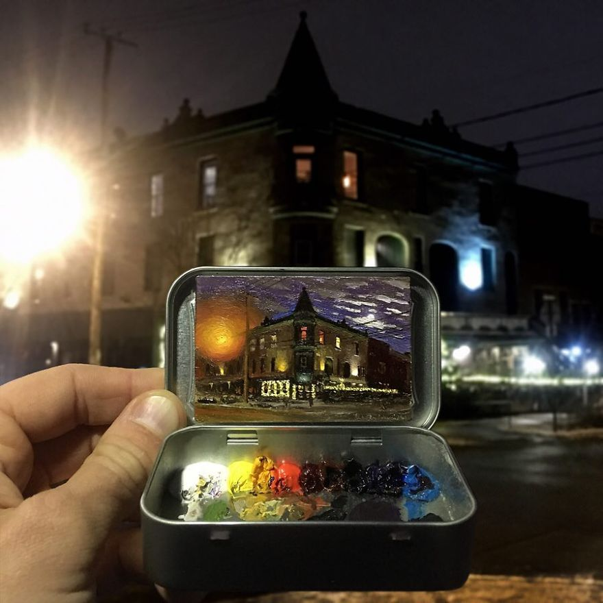Artist Makes Amazing Mini Paintings In Cans Of Altoids