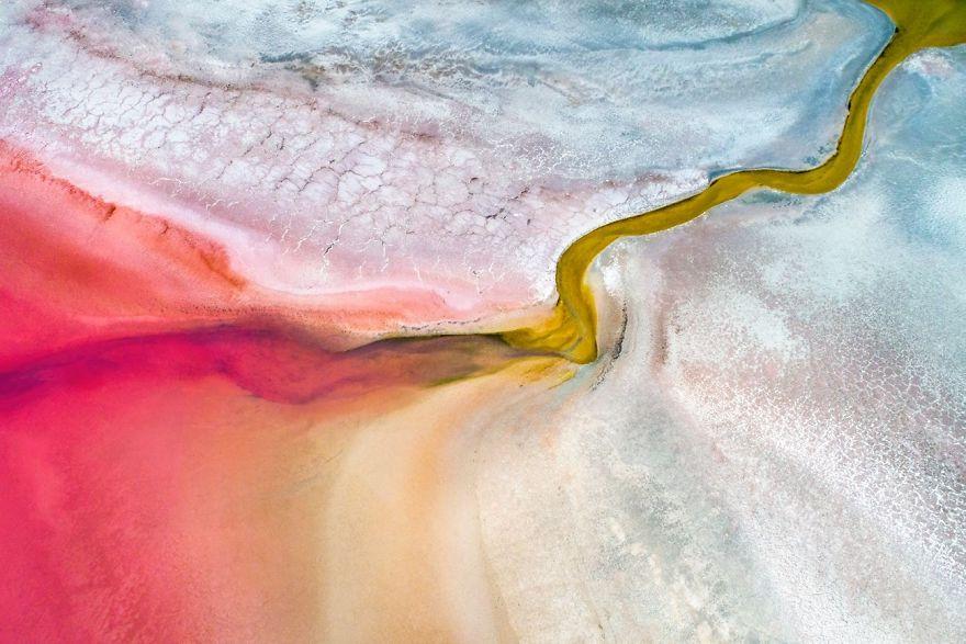 Pink Salt Lake, Kalbarri, Western Australia By Mat Beetson