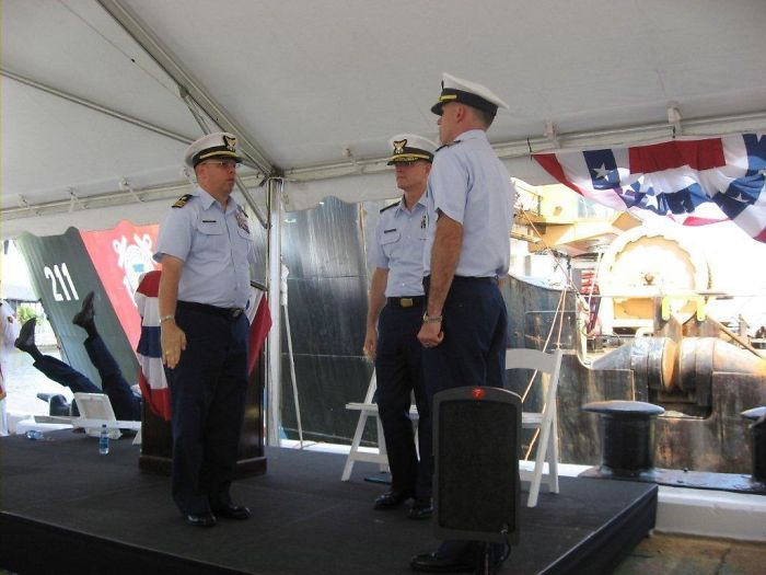 My Father's Chair Failing At A Coast Guard Change Of Command