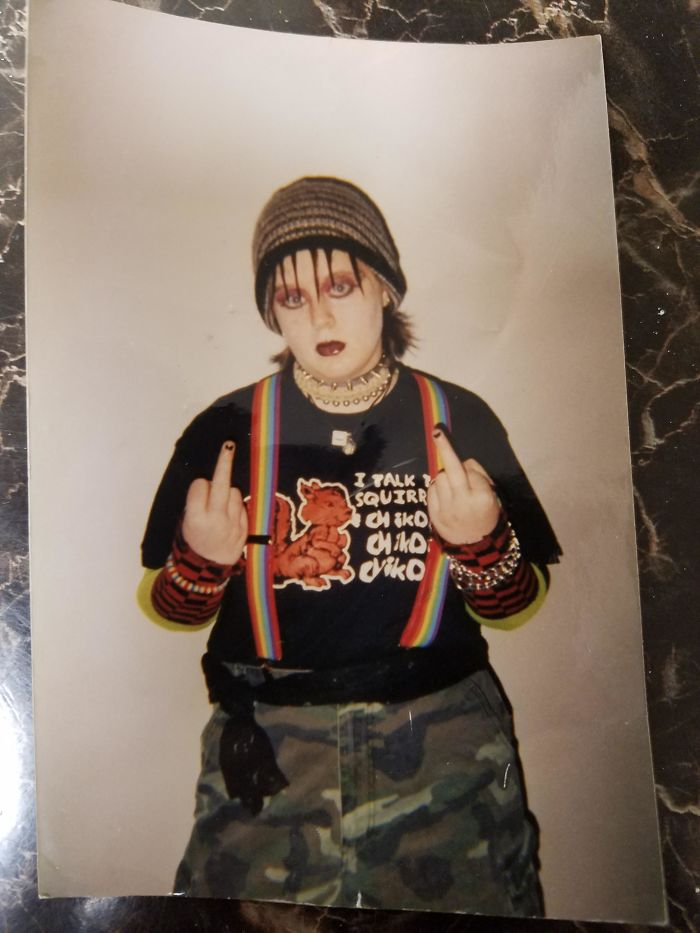 2002, Age 14. I Have No Idea What I Was Rebelling Against But I Was Going At It Hard
