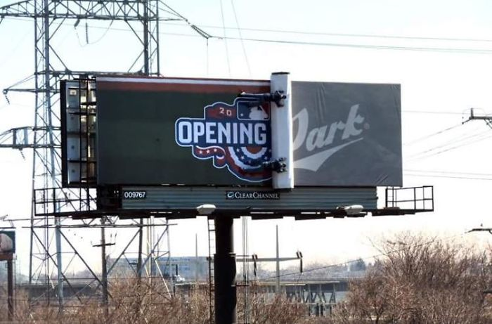 The Milwaukee Brewers Have An Opening Day Billboard That Unravels A Little Each Day As The Season Approaches
