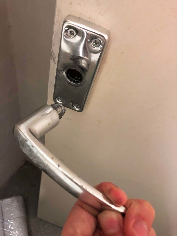 Pulled The Door Handle Off And He Was As Shocked As I Was