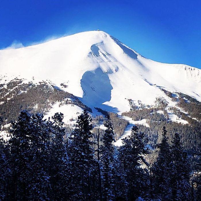 This Shadow Looks Exactly Like A Man's Head. Lone Peak, Big Sky, Montana