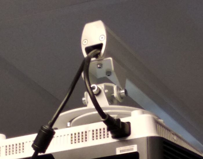 This Projector Support At My English Class Is So Happy To Do His Job