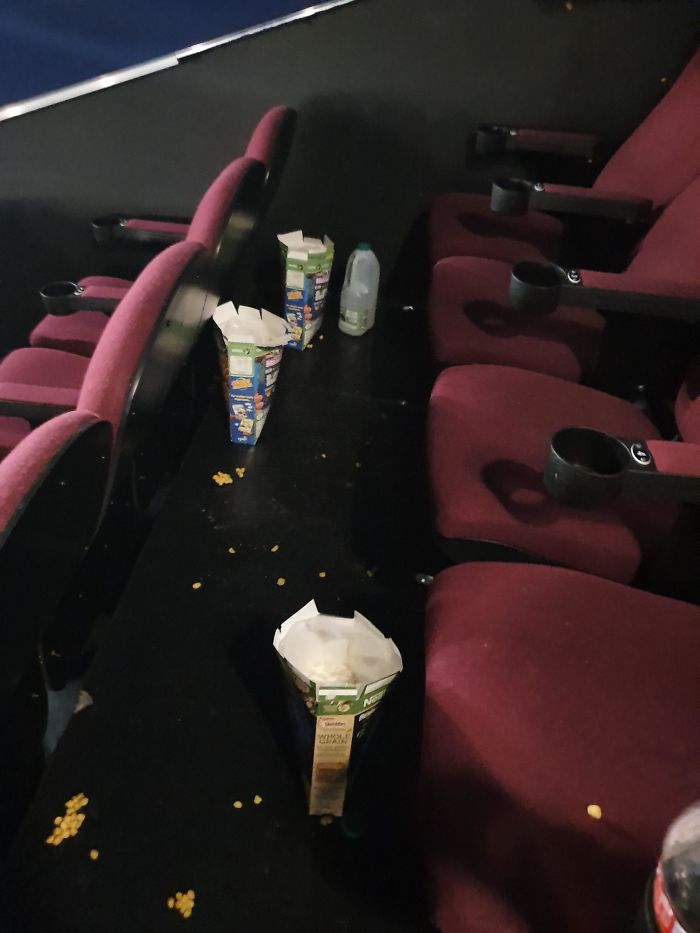 Being A Cinema Worker And Having To Clear Up After These Delightful People