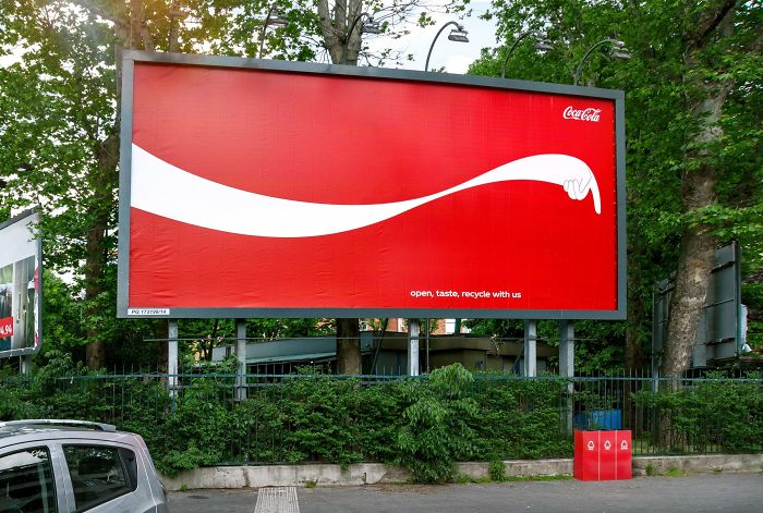 Coke Billboards That Point You To The Nearest Recycling Bin