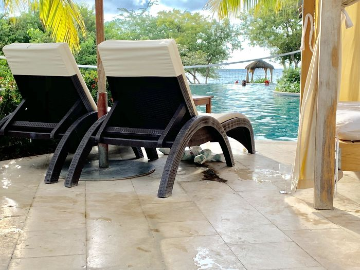 Got Soiled Diapers? Put Them Underneath Chaise Lounge At Beach Resort