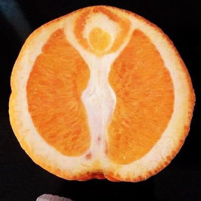 Looks Like There's A Goddess In This Orange