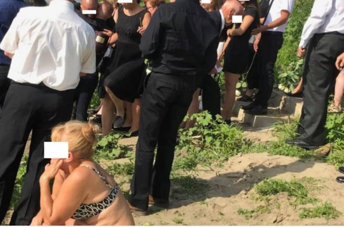 This Woman, Who Would Not Stop Sunbathing Next To A Funeral Even After Being Asked To Move Several Times
