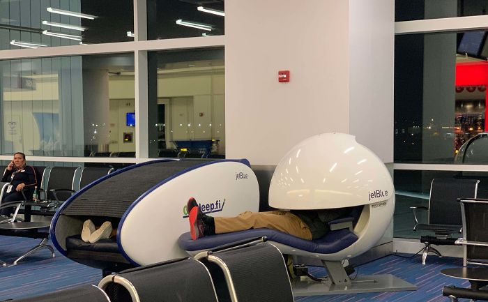These Napping Pods Offered By JetBlue At JFK Airport