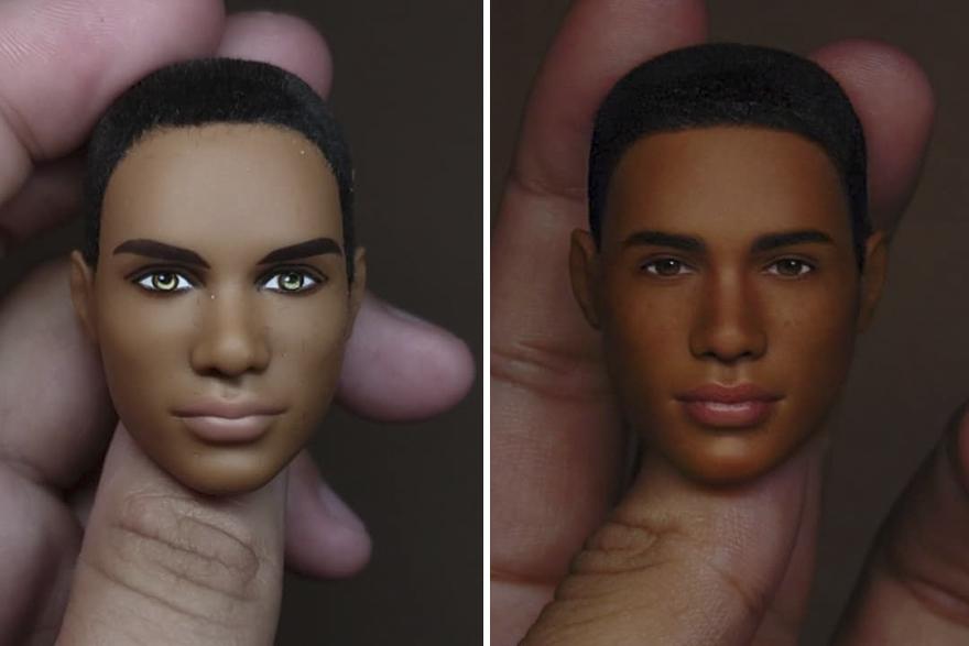 Repainted Ken Doll