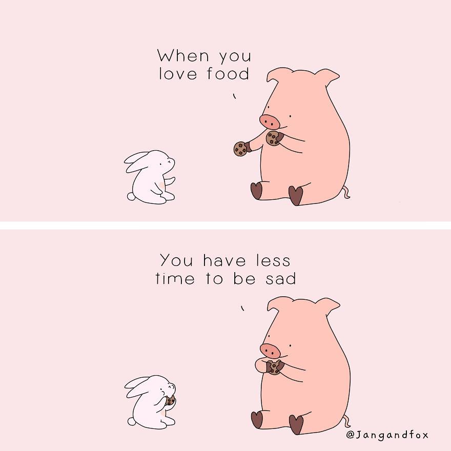 Love Is Sharing Food