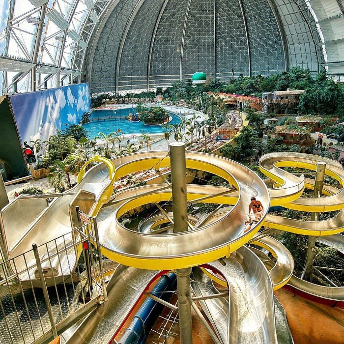 "Waterpark ""Tropical Islands"" In A Former Airship Hangar In Krausnick, Germany"