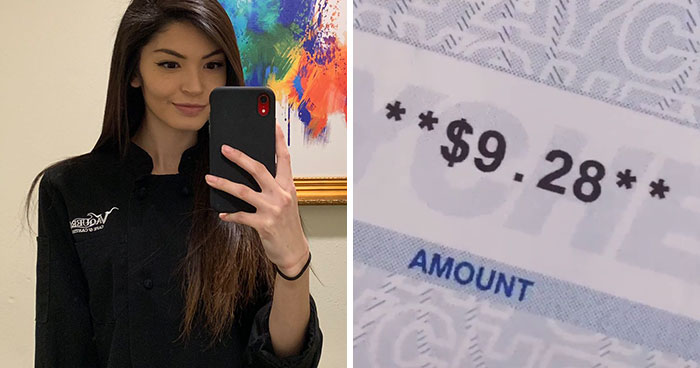 Mom Shares A TikTok Of Her $9.28 Paycheck After Working For 70 Hours As A Waitress