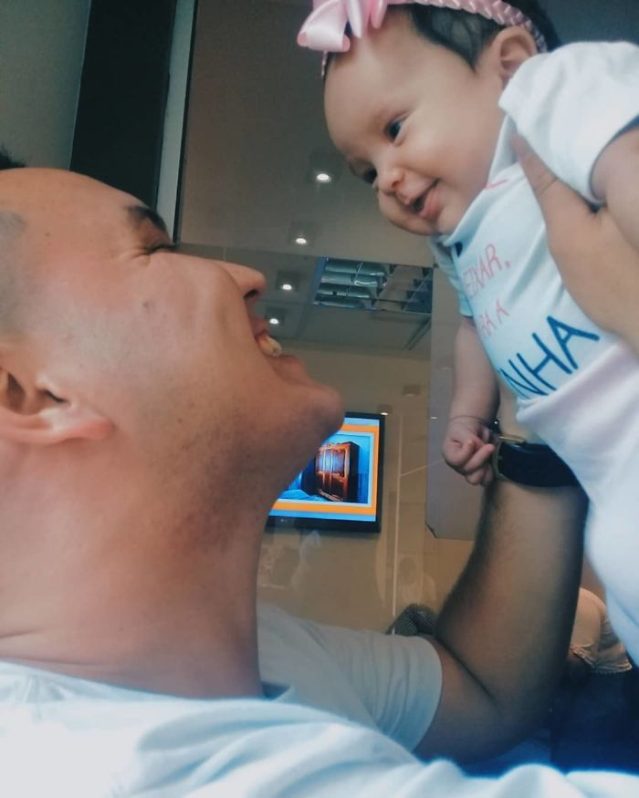 Dad Spends Months Talking To His Baby In The Womb, She Reacts To His Voice With The Biggest Smile Once Born