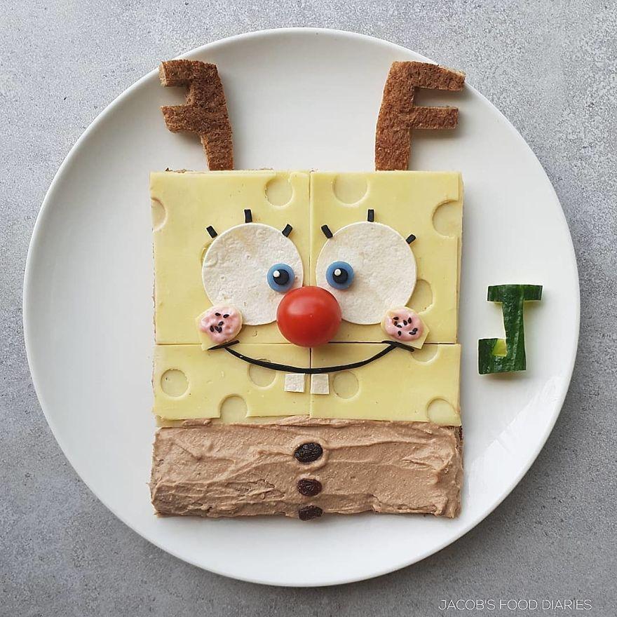 Spongebob Squarepants As Rudolf