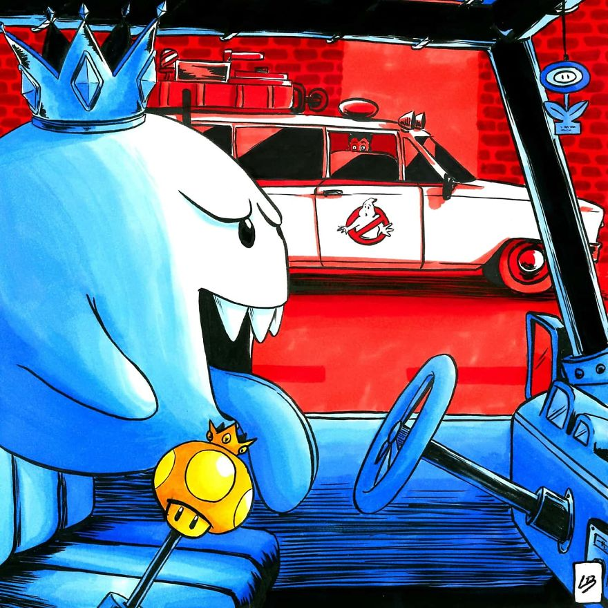 King Boo vs. Ghostbusters