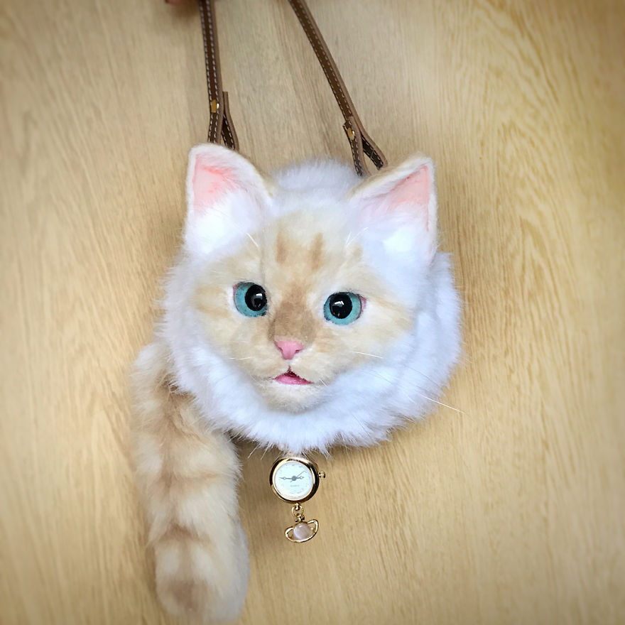 This Japanese Artist Continues To Create Cat Bags (New Pics)