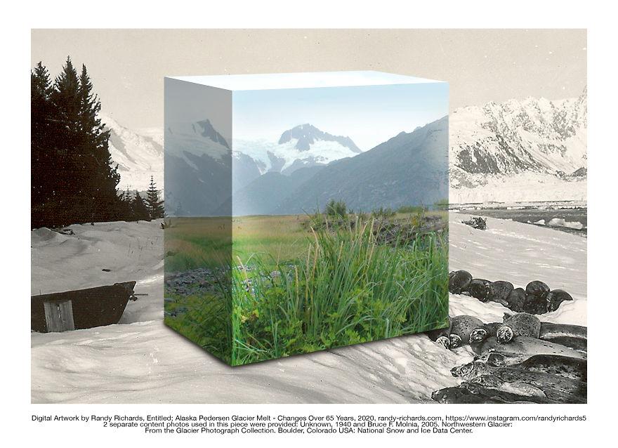 Alaska Pedersen Glacier & Seals - Changes Over 65 Years: Then & Now