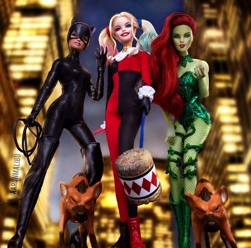 Cat Woman, Harley Quinn And Poison Ivy
