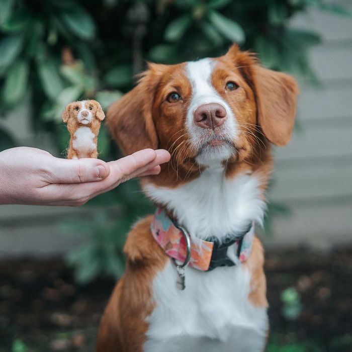 This Artist Immortalizes Her Pet In The Form Of An Adorable Felt Doll