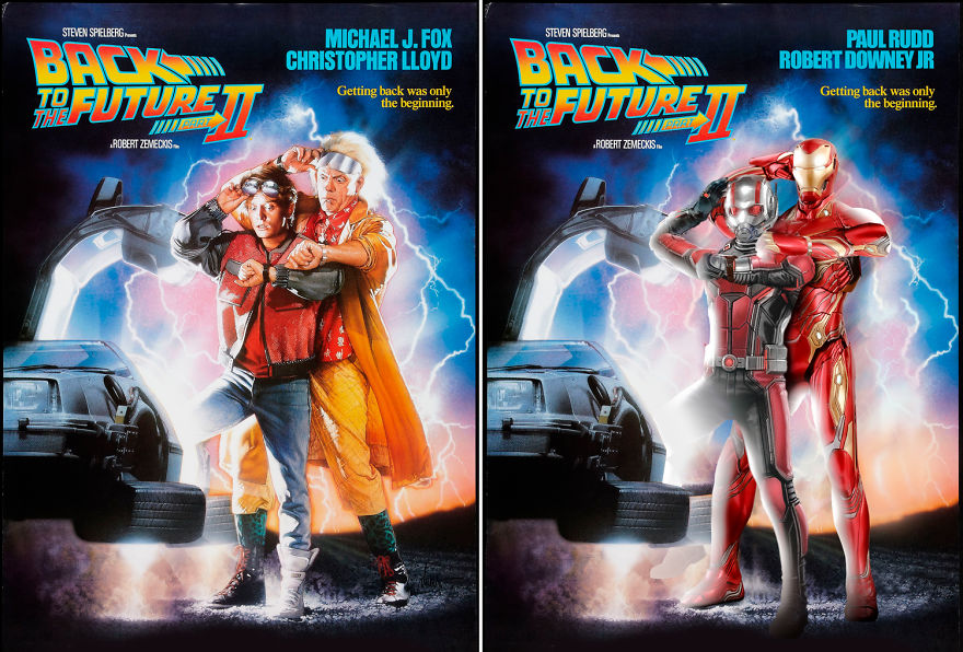 Ant-Man And Iron Man Starring Back To The Future 2