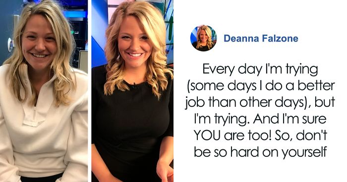 'We're All A Mess,' News Anchor Posts Photos Taken Before And After Getting Ready For Work, Says To Never Trust Social Media