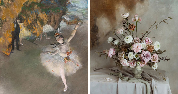 We Use Flowers To Recreate World-Famous Paintings (7 Pics)