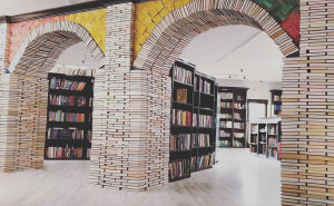I Made A Book Arch Out Of 5,000 Upcycled Books