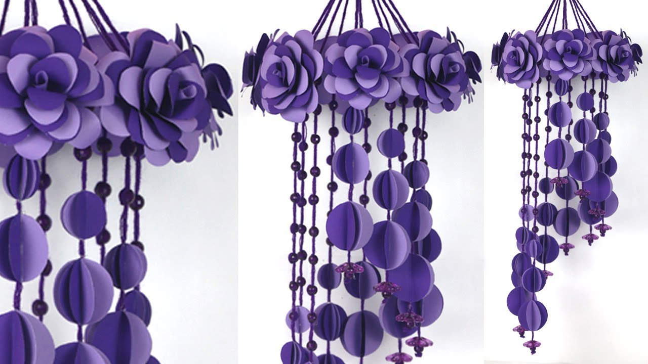 Beautiful Rose Flower Wall Hanging |rose Flower Wall Decoration Ideas