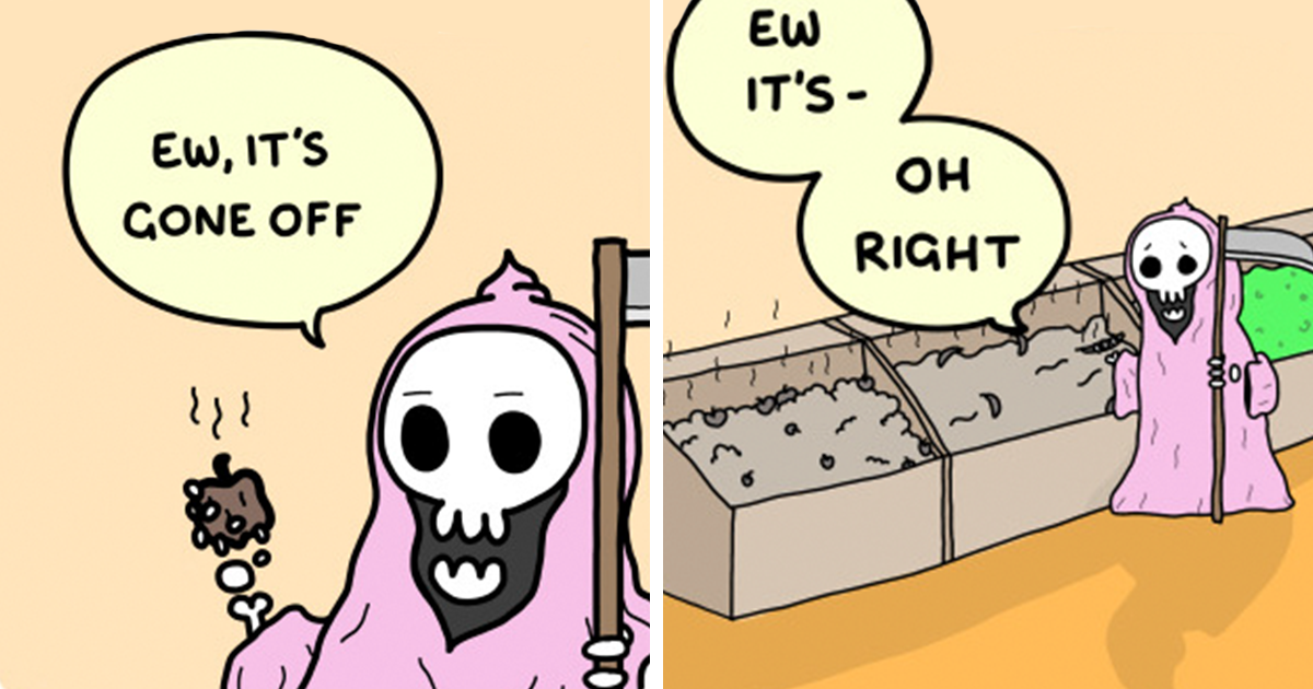 Wholesome Webcomic About The Grim Reaper's Brighter Side (15 Pics)
