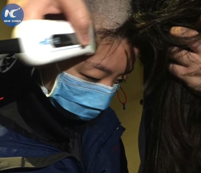 Asian long hair skinny doctor