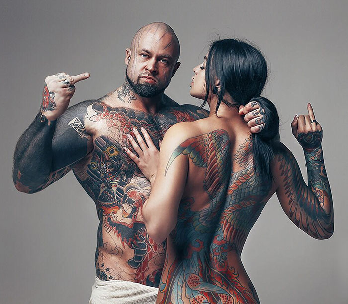"15 Very Different Married Couples Pose For The Photography Project ""Dressed In Love"""