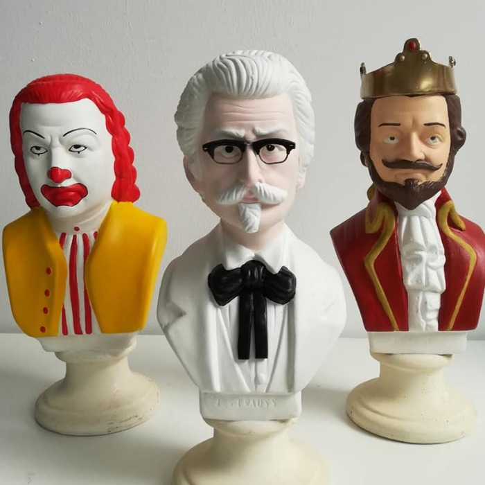 I Made The Fastfood Trio Out Of Thrift Shop Busts