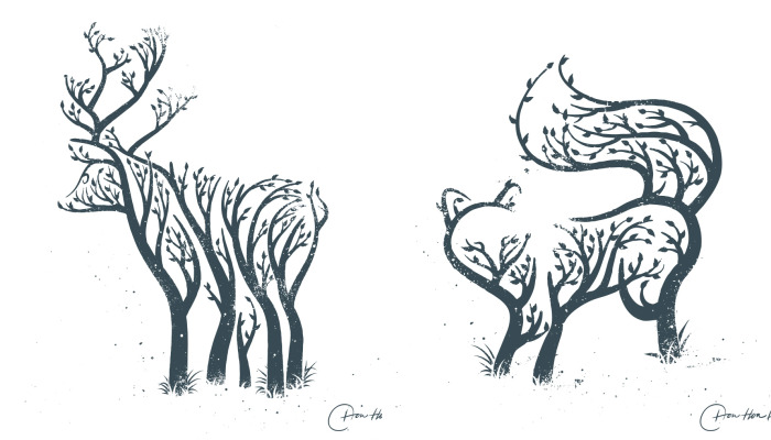 I Created A Tree Animal Illustrations To Help The Imagination Of Kids Run Wild
