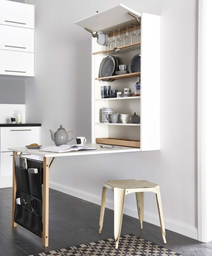 This Space Saving Table Takes The Murphy Style Decor To Whole New Level
