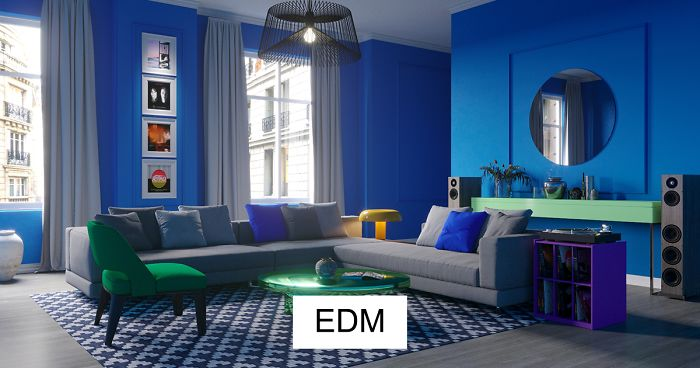Designers Color A Room Based On A Music Genre, Described By People Who Can 'See Music's Colors'