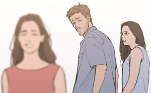 "Artist Gives The ""Distracted Boyfriend"" Meme A Wholesome Backstory"