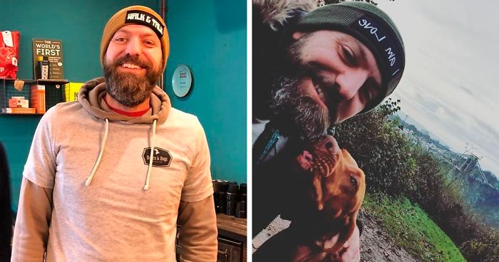 Guy Sets Up A Dog Walking Group For Men Who Need A
