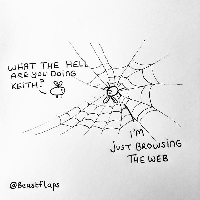 24 Funny Doodles This Artist Drew During Meetings They Didn't Need To Be At