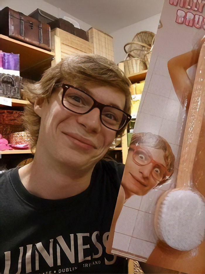 "Found My Doppelganger In Poland, Unfortunately It Was On A ""Willy Brush"""