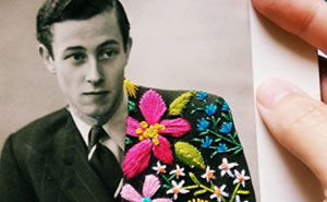 Artist Uses Her Colorful Embroidery To Give New Life To Old Photographs (82 Pics)
