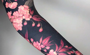 Flower Tattoos With Black Backgrounds By Esther Garcia Turn Limbs Into Art