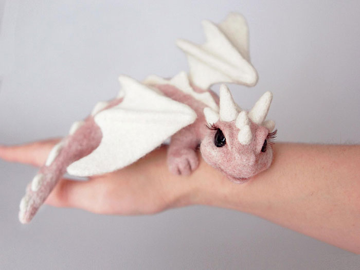 Ukrainian Artist Creates Felted Dragons To Make Your Home Cosy (15 Pics)